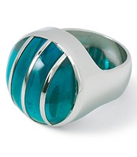 JRS0004-5 Color Cut Sky Green Ring