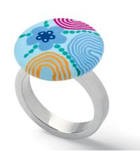 JRS036-7 Paint Circles Ring