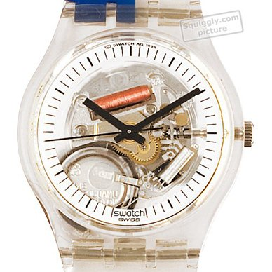 Swatch montre Transparent