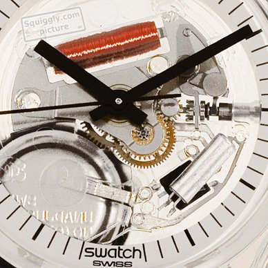 Skeleton Swatch Watch with White Dial Collection Automne-Hiver Swatch