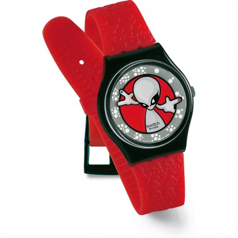 Swatch montre rouge